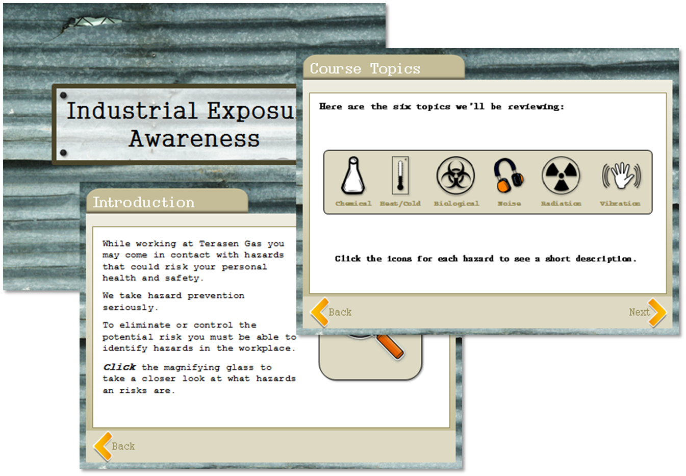 Industrial Exposure Awareness Sample, e-Learning Instructional Designers Vancouver