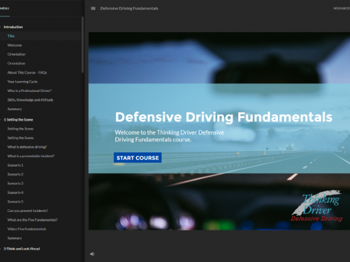 eLearning Course Rebrand – Defensive Driving
